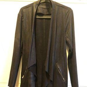 ZARA Faux Suede Asymmetrical Jacket